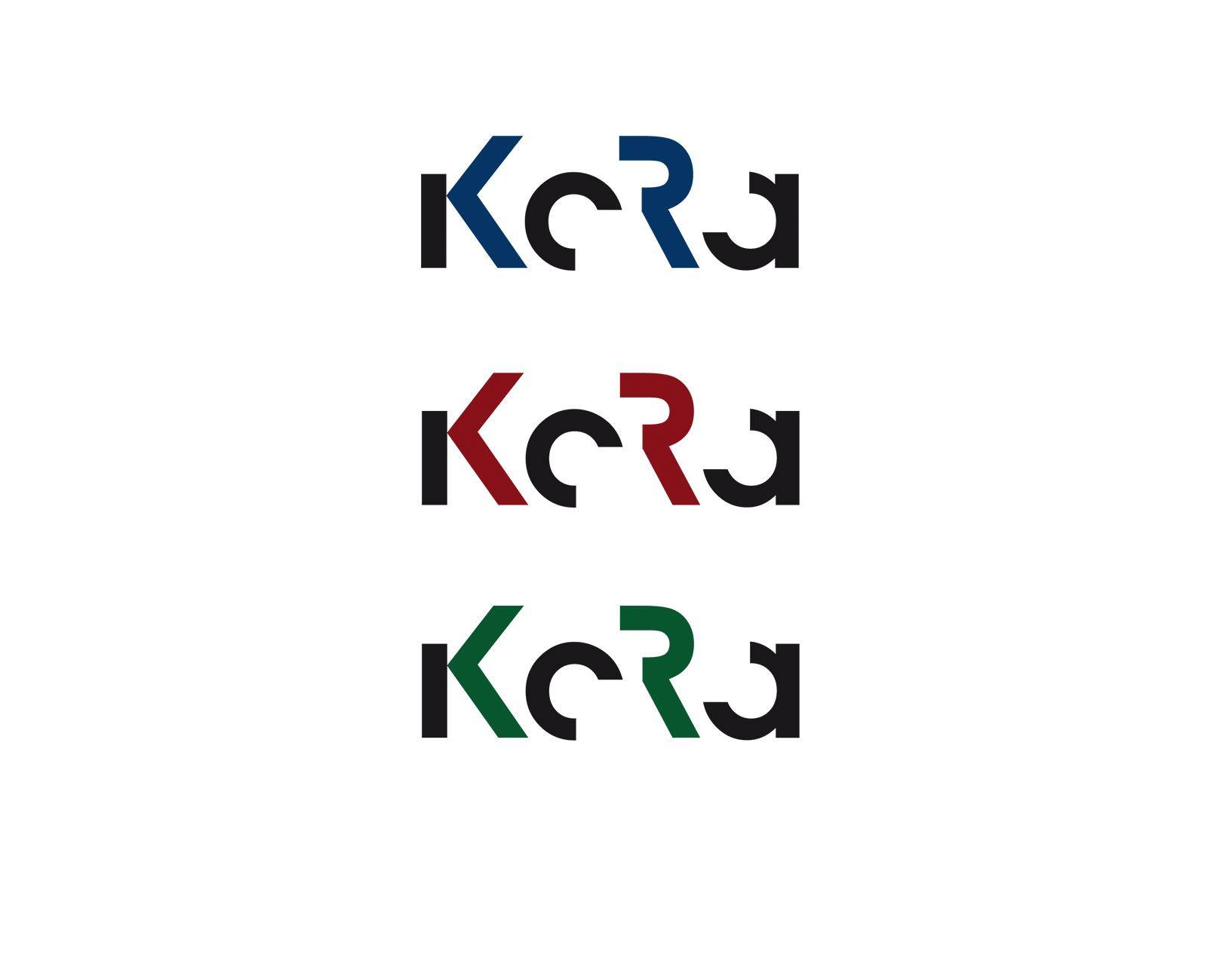 KoRa Logo verschiedene Farben für verschiedene Bereiche