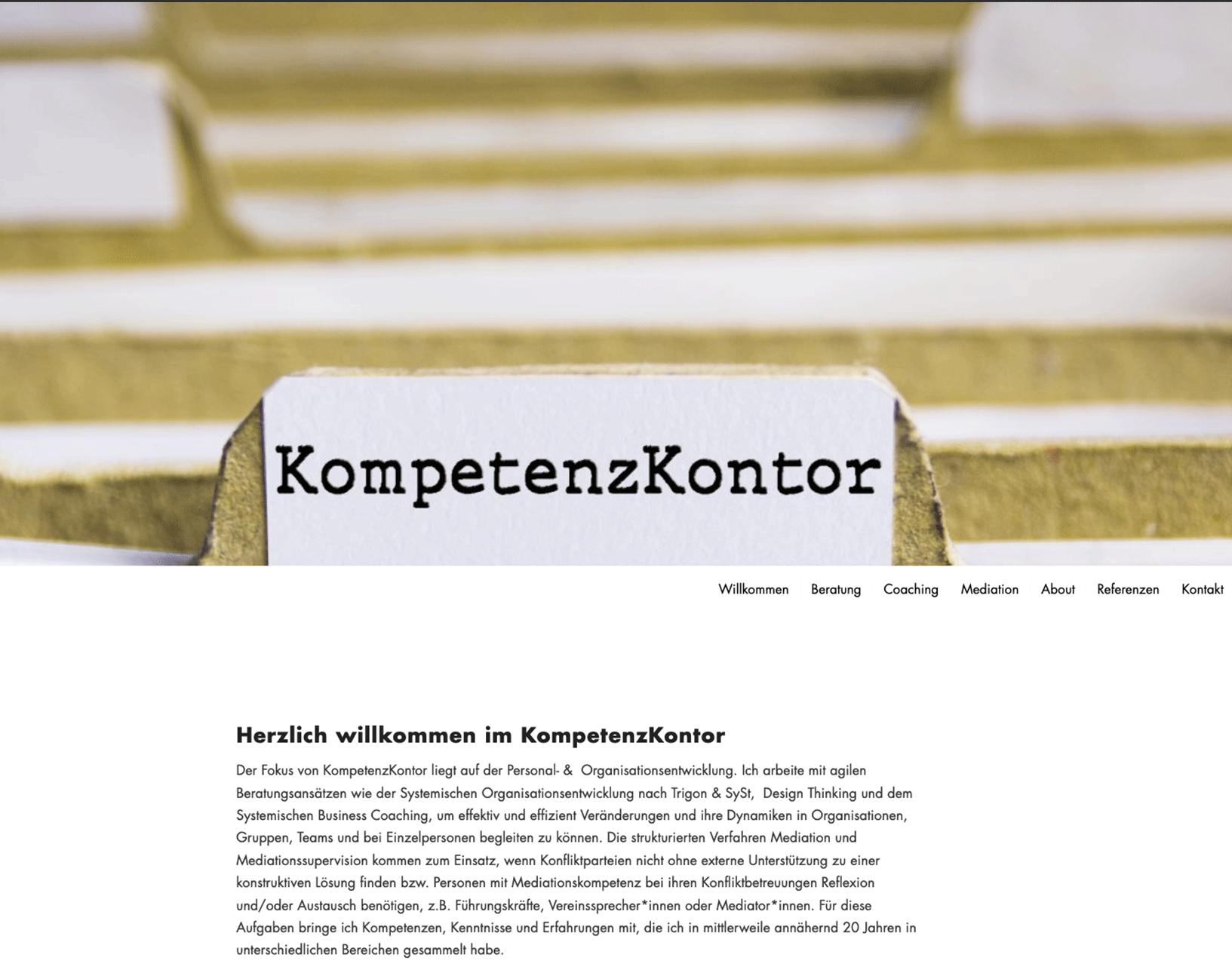 KompetenzKontor Website